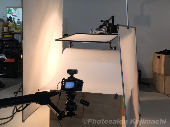 撮影ライティングの写真