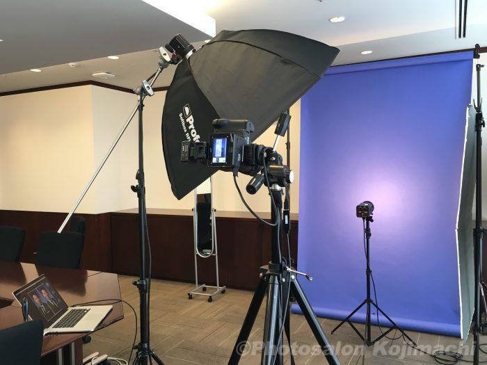 【出張撮影】企業役員プロフィール写真撮影ライティング