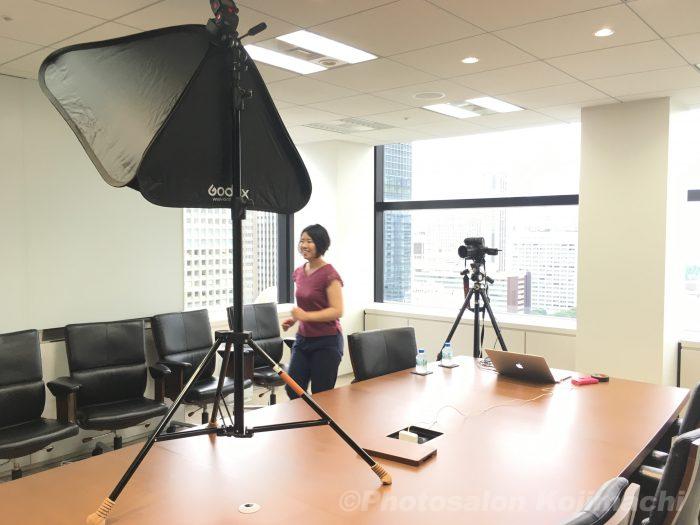 【出張撮影】ビジネスポートレート撮影ライティング