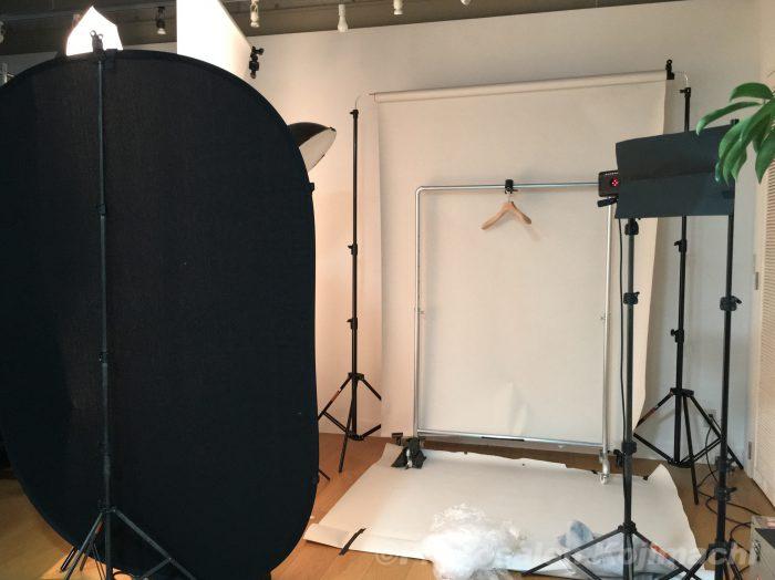 【出張撮影】アパレルブランド商品大量ブツ撮りライティング